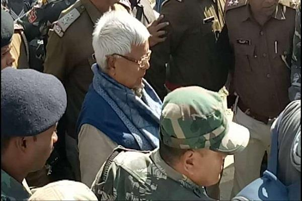 lalu reached in cbi court today