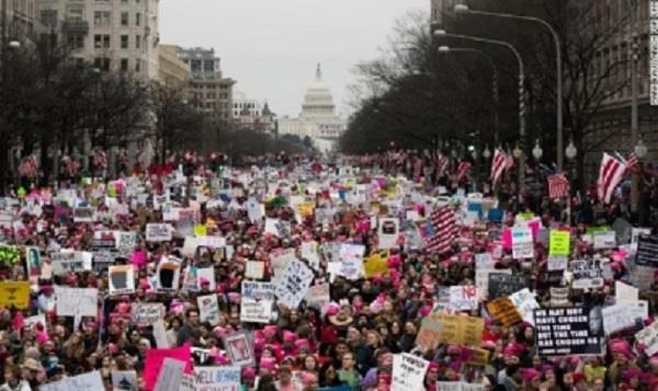 women  s march protests  thousands rally against trump