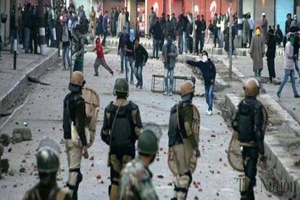 clashes during caso in south kashmir