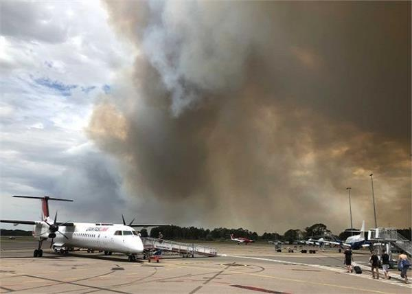 after fire many flights canceled in australia