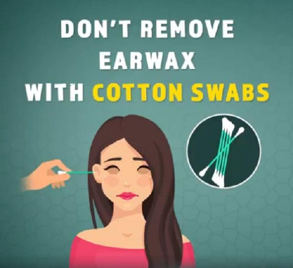 don  t remove earwax with cotton swabs