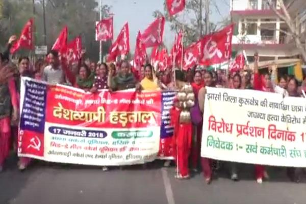anganwadi workers protest against the government against honorarium