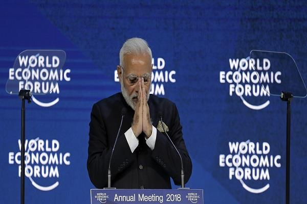 a big mistake made by modi during the speech at davos