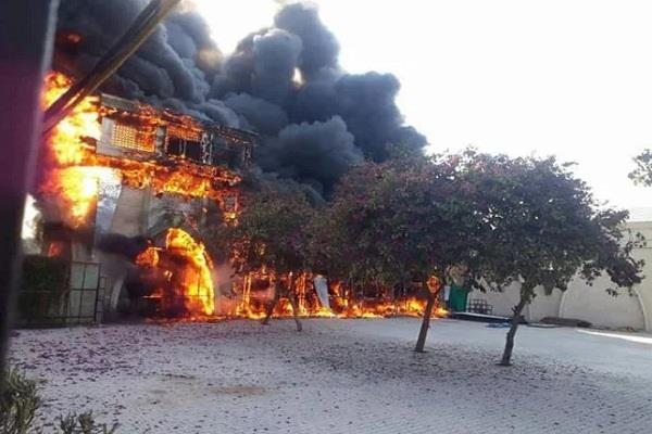 fire in jaipur  s famous marriage building  property worth lakhs