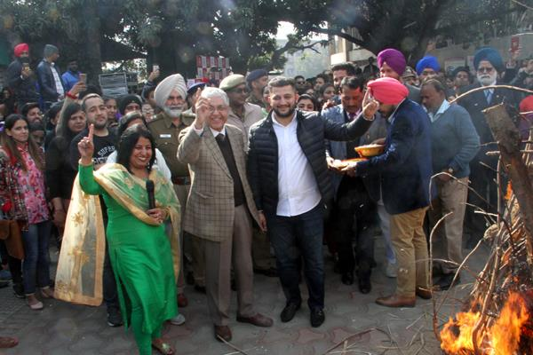 lohri was celebrated on friday at the student center in pu