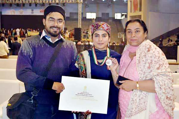 another daughter of manali enhances himachal  s honor  won this award