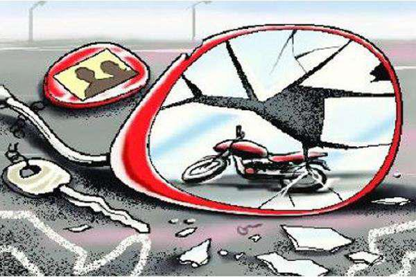 bike driver injured when a mercedes car hit