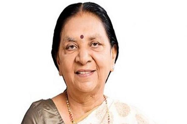 anandiben patel will be the governor of madhya pradesh