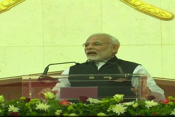 modi criticized the congress  soft target kushashan style