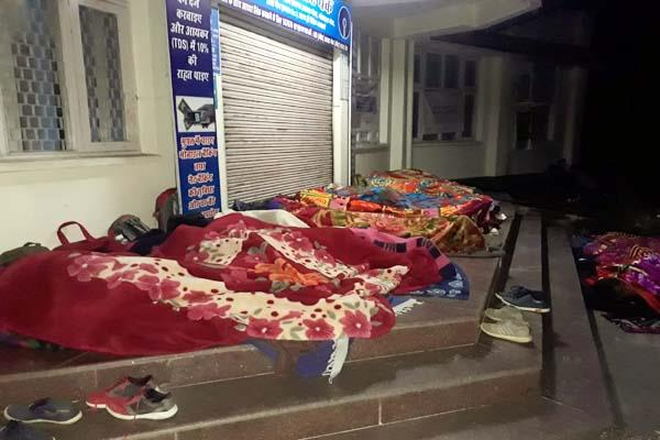 passion of recruitment youth spent night in open sky rain shelter and atm