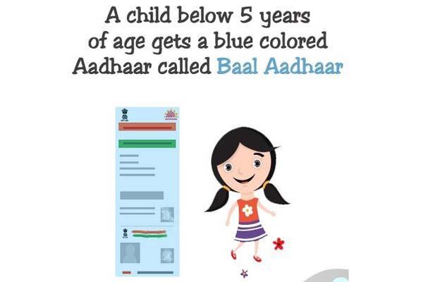 uidai releases baal aadhar