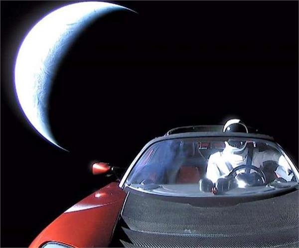 elon musk sent his sports car into space