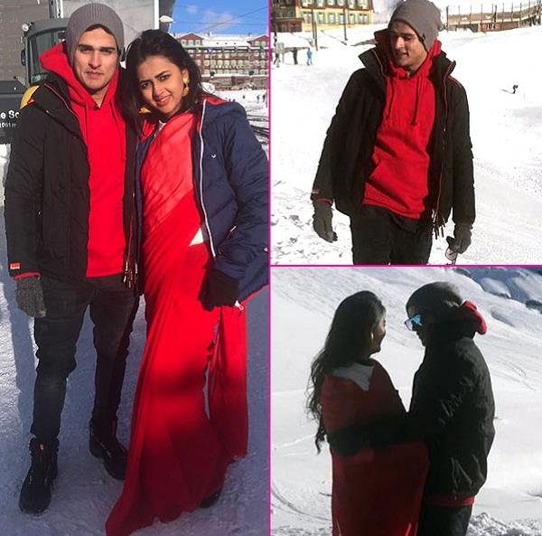 priyank sharma with tejasswi prakash in switzerland