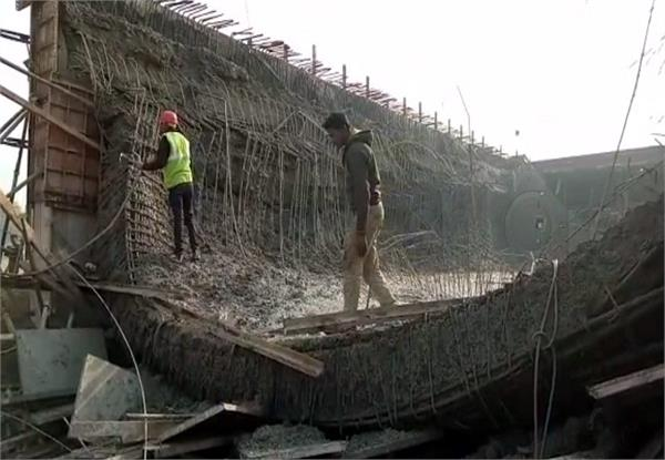 collapse of bridge under construction bridge collapses 2 workers injured
