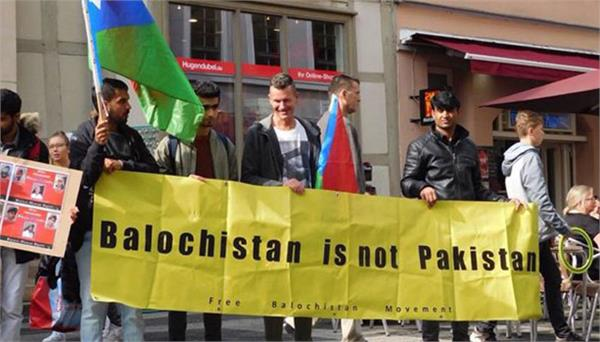 protest against china pak cpec in germany