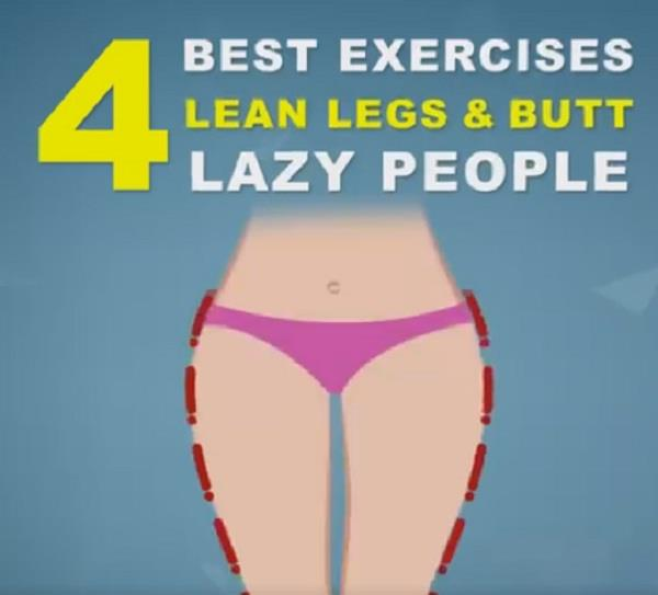 4 best exercises for lean legs  butt for lazy people