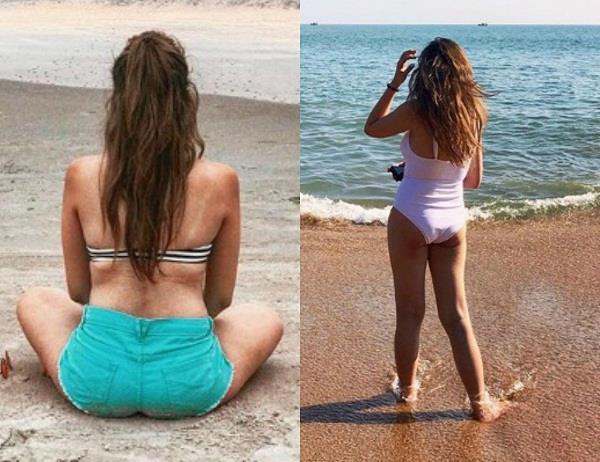 nitibha kaul shared beach picture on instagram