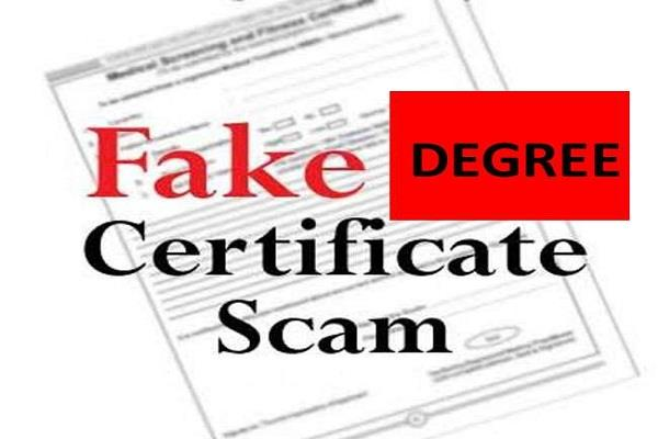 disclosure of fake degree scam