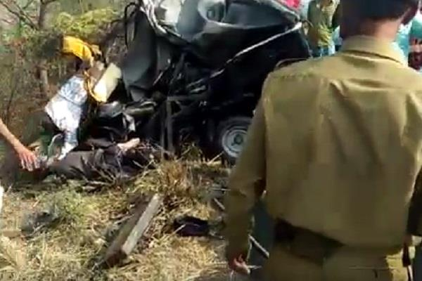 horrific collision between tanker and auto rickshaw