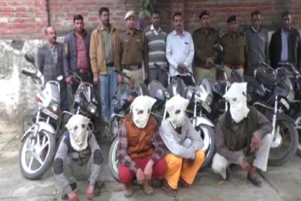 police busted the burglary 11 motorcycles recovered