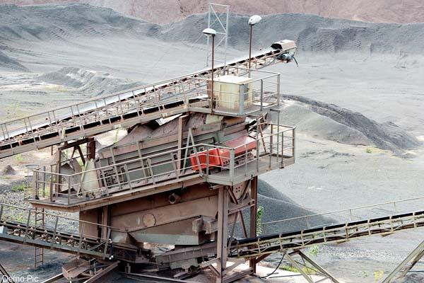 action of mining department  mining lease suspend  electricity cut of crusher