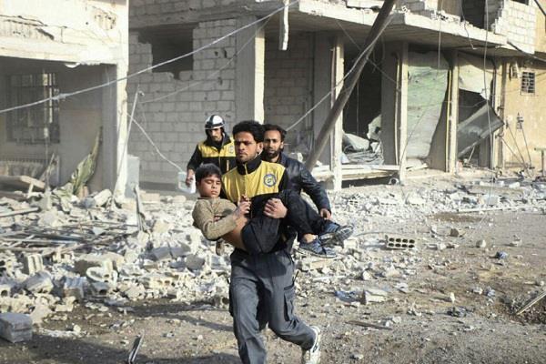 10 killed in fresh air strikes in syrian capitals suburban area