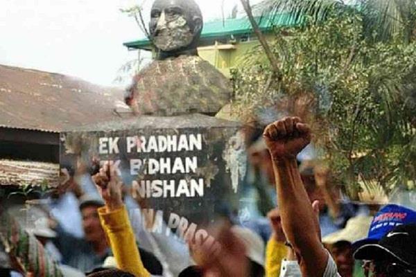 shyama prasad mukherjee s statue was broken in assam