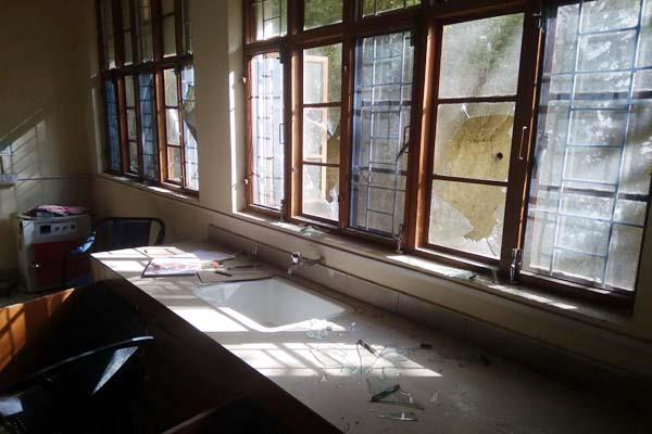 naughty elements sabotaged in school loss of lakhs of property
