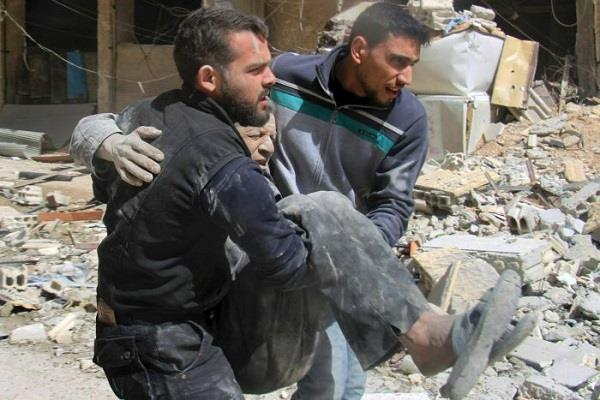 at least 35 deaths in syria rocket attack