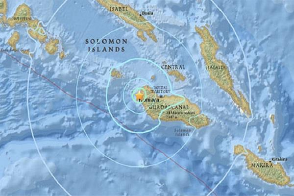 5 8 magnitude earthquake felt in solomon islands