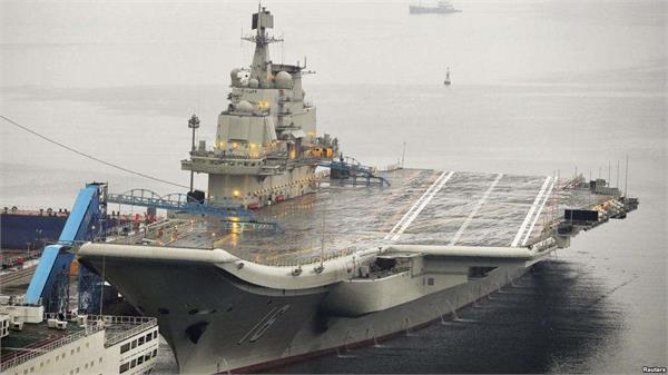 china aircraft carrier warship sent to taiwan