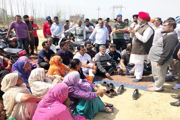 protest in phagwara