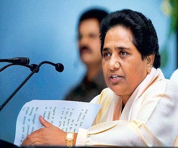 bjp is destroying constitution mayawati