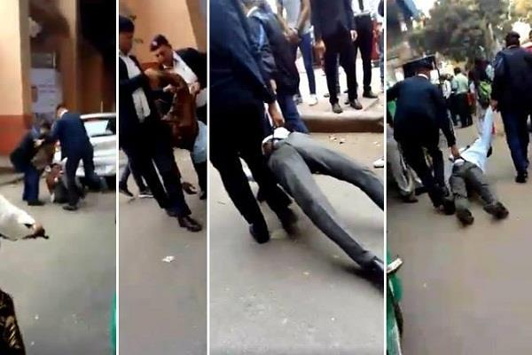 social media traffic police video viral