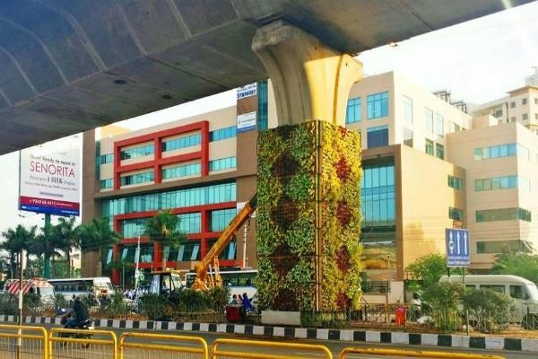 the first vertical garden created by bangalore to prevent pollution