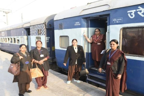 today women will take charge of allahabad intercity express