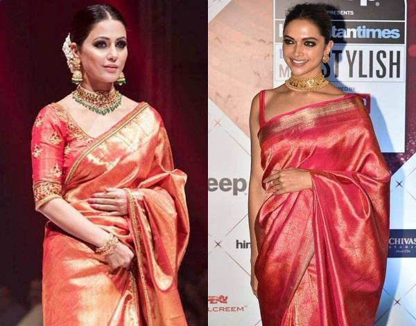 hina khan wears kanjivaram saree