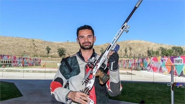 issf world cup akhil sheoran won gold