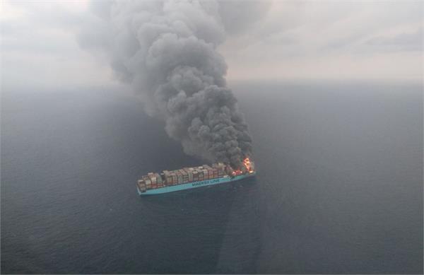 dead sea fire 4 crew members missing