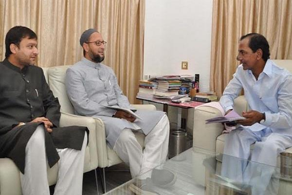 owaisi extended friendship towards chandrasekhar rao