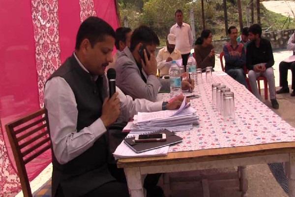 organized public hearing program of rudraprayag