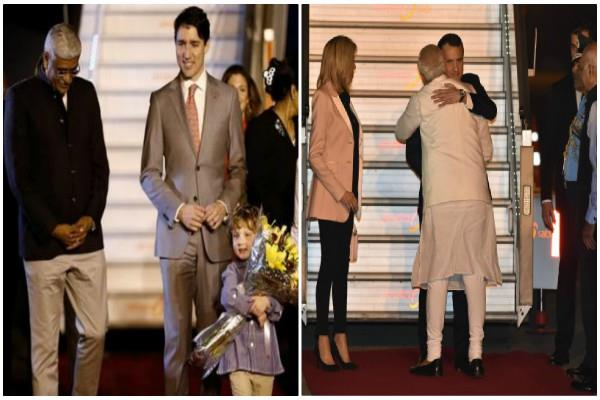 modi and the president of france pics can irritated to trudeau