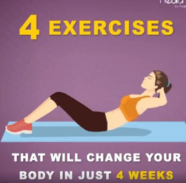 4 exercises that will change your body in just 4 weeks