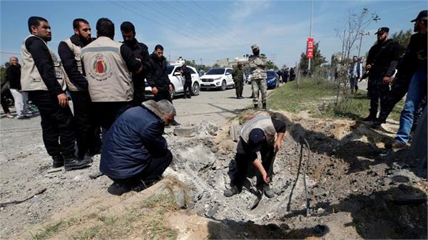 blast after the entry of the palestinian prime minister in gaza
