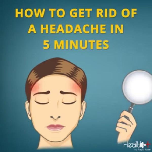 how to get rid of a headache in 5 minutes