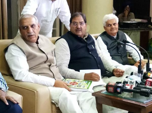 abhay singh chautala press confremce in assembly house on budget2018