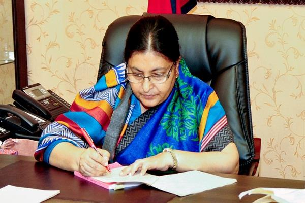 vidya devi bhandari elected the president of nepal for the second time