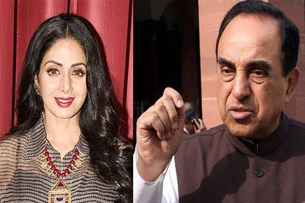 the question raised by swami on the death of sridevi