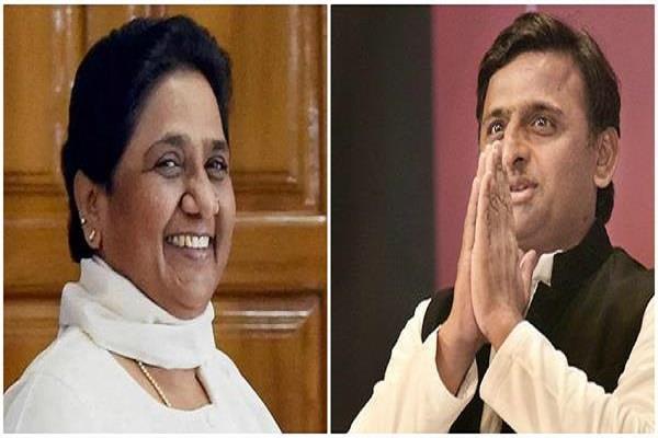 akhilesh yadav arrives to meet mayawati after winning the by election