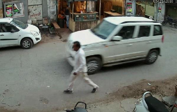 kidnapped personin jind car seen in cctv